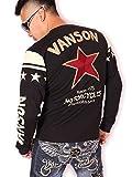 (バンソン) VANSON ワンスター ロンT 長袖Tシャツ NVLT-609 ブラック XXL