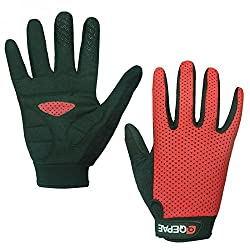 Magideal Summer Cycling Bicycle Breathable Full Finger Gloves Dark Green S