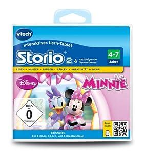 VTech 80-231704 - Storio 2 Lernspiel Minnies Schleifen Boutique