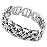 516IiJ%2BjiAL. SL160  JBlue mens Stainless Steel Bracelet Hand Cuff Bangle Silver Link Chain