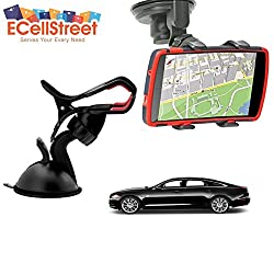 ECellStreet TM Mobile phone soft tube mount holder with suction cup - Multi-angle 360° Degree Rotating Clip Windshield Dashboard Smartphone Car Mount Holder Jaguar F Type