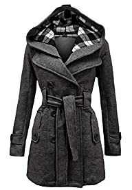 Noroze Womens Check Hood Plus Size Du…