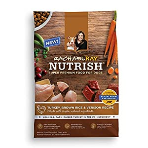Rachael Ray Nutrish Natural Dry Dog Food, Turkey, Brown Rice & Venison Recipe, 5.5 lb
