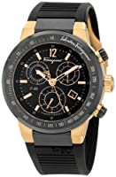 Salvatore Ferragamo Men's F55LCQ75909 S113 F-80 Rose Gold Plated Black Dial Chronograph Watch by Salvatore Ferragamo