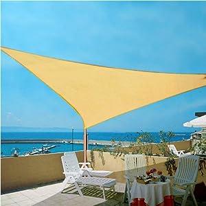 Voile pare soleil toile d 39 ombrage toile anti uv beige - Toile pare soleil ...