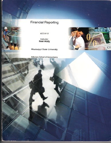 FINANCIAL REPORTING ACC 8112 MISSISSIPPI STATE UNIVERSITY (Adkerson School of Accountancy, Instructor: Noel Addy)