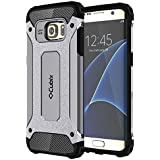 Cubix Impact Hybrid Armor Defender Case For Samsung Galaxy S7 Edge (Grey)