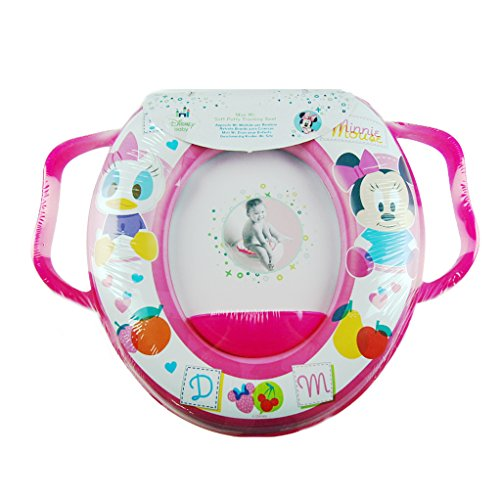 Disney Baby Donald Duck & Minnie Mouse Soft Padded Cushioned Toilet Trainer Seat With Handles In By Toilet Training Seat