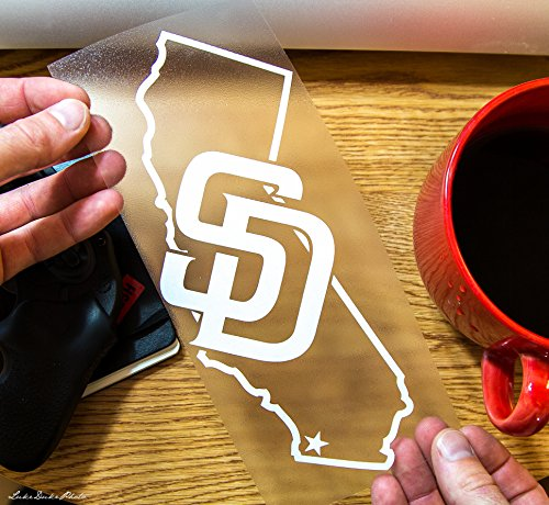 Sd San Diego California State Outline Vinyl Decal Sticker Custom