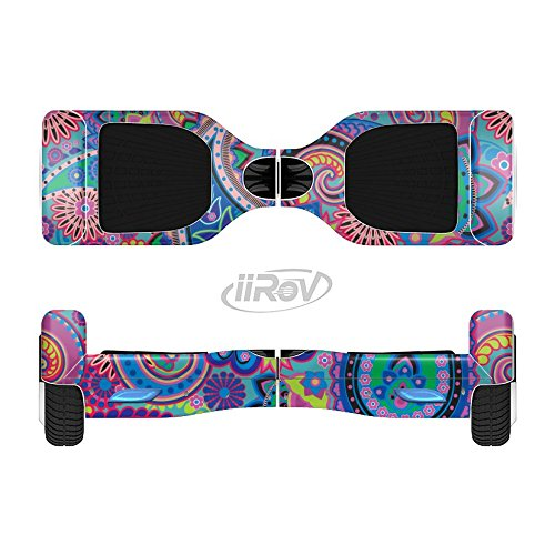 The-Bold-Colorful-Paisley-Pattern-Full-Body-Wrap-Skin-Kit-for-the-iiRov-HoverBoards-and-other-Scooter-HOVERBOARD-NOT-INCLUDED