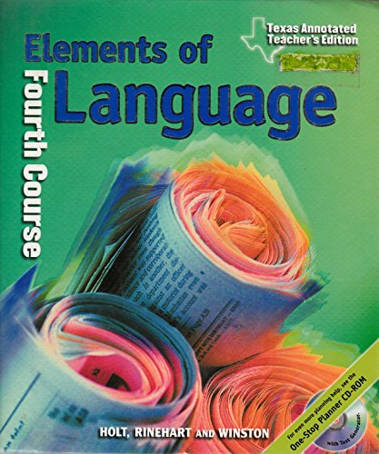 Elements of Language, 4th Course, Annotated Teacher's Edition