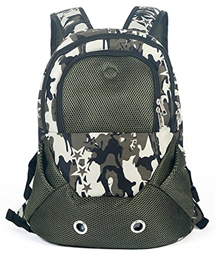 MaruPet Dog Cat Carrier Backpack Travel Bag Pet front Carrier Bag Hands Free Soft Sided Mesh Backpack Head out Carrier Double Shouder Bags for Small Dogs Walking Hiking Travel Coffee