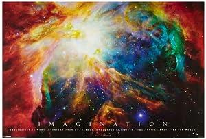 1art1 48900 Poster Motivation Imagination Galaxie Nébuleuse 91 X 61 cm