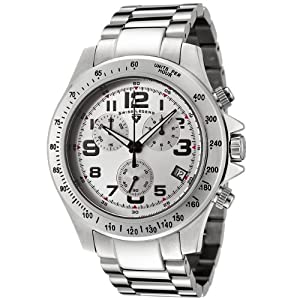 Mens 50041-22S Eograph Collection Chronograph Silver Dial Stainless Steel Watch