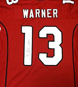 Kurt Warner Autographed Arizona Cardinals Red Jersey TriStar