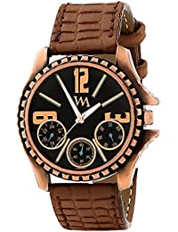 WATCH ME Brown Leather Black Dial Watch For Men Brown Leather Black Dial Watch For Men Watch MeAL-180 - B01N33R1OZ