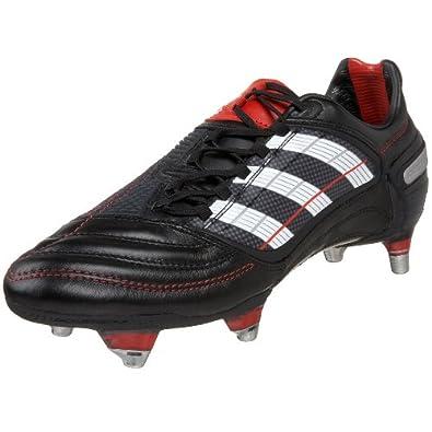 adidas Men's PREDATOR_X SG Soccer Cleat,Black/White/Red,6.5 M