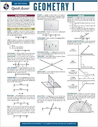 Geometry 1 - REA's Quick Access Reference Chart (Quick Access Reference Charts) written by Editors of REA