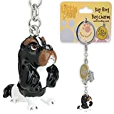 Little Paws Tri-colour Cavalier King Charles Spaniel Key Ring / Bag Charm