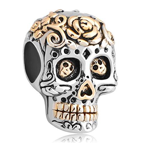 fashionscences-dia-de-los-muertos-skeleton-flower-skull-charms-european-beads-cheap-fit-bracelets