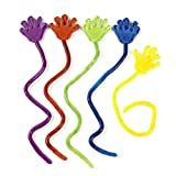 Vinyl Glitter Sticky Hands 1 1/4&quot; (6 dz)