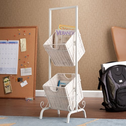 Southern Enterprise 2-Tier Basket Storage, White