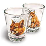 American Expedition Set of 2 Shot Glasses (Mountain Lion)