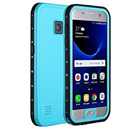 Galaxy S7 Waterproof Case, Pandawell Full-body Shockproof Dust/Dirt Proof Snow Proof Durable Underwater Protection Case Cover for Samsung Galaxy S7 - Teal