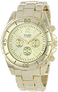 """Golden Classic Women's 2287-gold """"Nautical Notion"""" Classic Gold Dial Tachymeter Marked Bezel Watch"""
