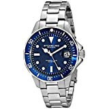 Stuhrling Original Men's 664.02 Aquadiver Quartz Date Stainless Steel Link Bracelet Diver Watch