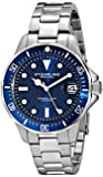 Stuhrling Original Men's 664.02 Aqua Diver Analog Display Japanese Quartz Silver Watch