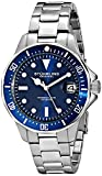 "Stuhrling Original Mens 664.02 ""Aquadiver"" Stainless Steel Blue Dial Watch with Triple-Link Band"