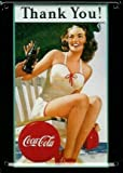COCA COLA THANK YOU Small Vintage Tin Metal Pub Sign