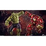 Posterhouzz Movie Avengers: Age Of Ultron The Avengers Hulk Vs Hulkbuster Hulk HD Wallpap... Fine Art Paper Print Poster