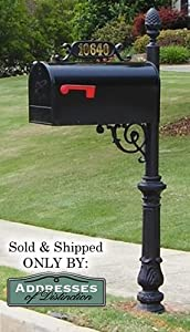 The Hampton Aluminum Mailbox and Post System, Black