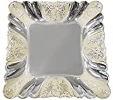 The Divine Luxury Silver-Plated Tray with Enamel Border