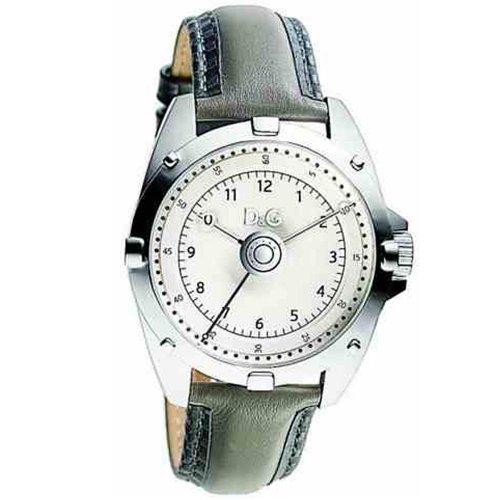 Dolce & Gabbana Men's Chalet DW0610 Grey Calf Skin Quartz Watch with Silver Dial