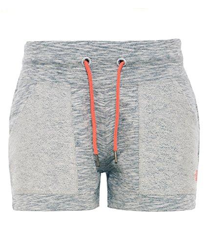 North Face-Pantaloni corti da donna, in spugna, da uomo, taglia M, colore: grigio chiaro/grigio scuro, taglia: M