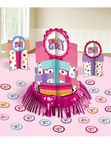 Amscan Polka Dots & Pastels Birthday Girl Table Decorating Kit, Multicolored