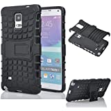 For Samsung Galaxy Note4 : MACC Defender Series Dual Layer Hybrid TPU + PC Kickstand Case Cover For Samsung Galaxy...