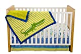 Zutano Crib Set, Alligators, 4 Piece