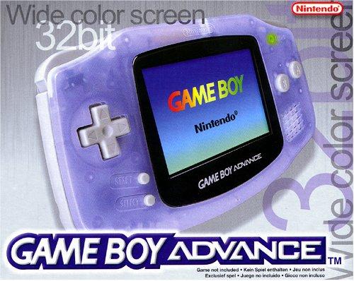 game boy advance konsole clear blue. Black Bedroom Furniture Sets. Home Design Ideas