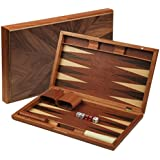 "Wooden Inlaid Backgammon Game Set 17"""
