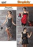 Simplicity Creative Patterns 1247 Misses' Flapper Costume, Size: HH 6-8-10-12