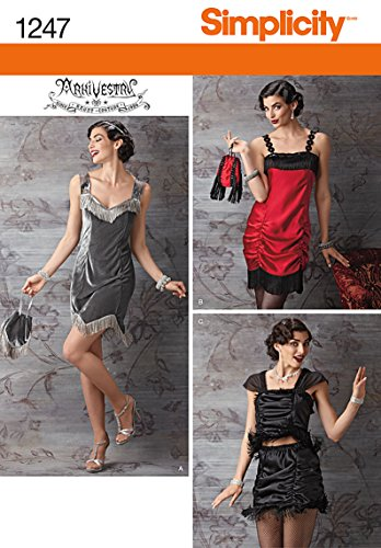 Simplicity-Creative-Patterns-1247-Misses-Flapper-Costume-Size-HH-6-8-10-12