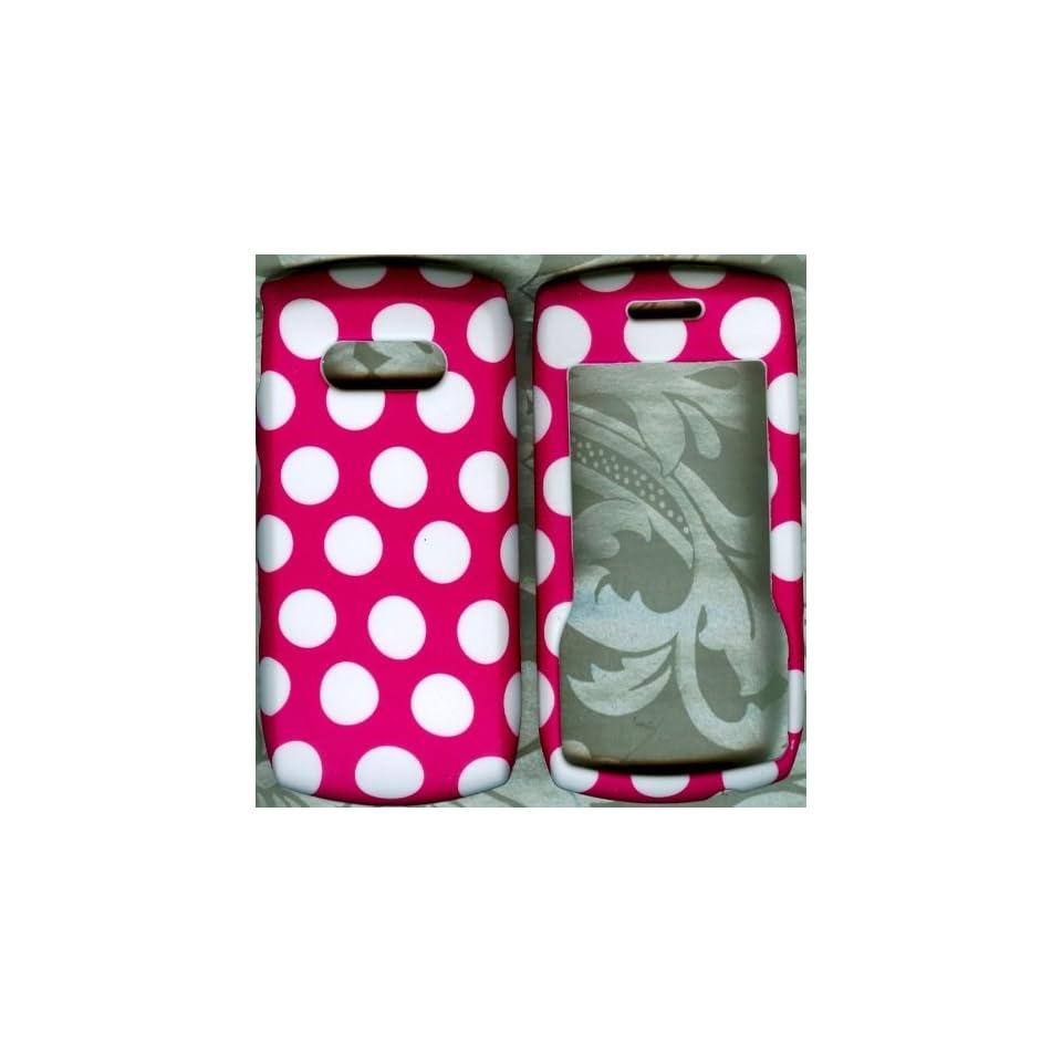 Pink polka dot LG620g straight talk phone cover hard case