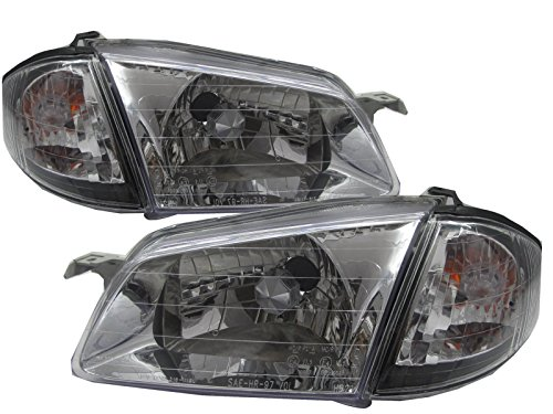 CrazyTheGod Familia BJ 1998-2000 Sedan/Wagon CRYSTAL Headligh Headlamp CHROME for MAZDA LHD (Mazda Familia Bj compare prices)
