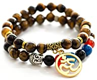 Tiger Eye Om Buddha Bracelets for Men…