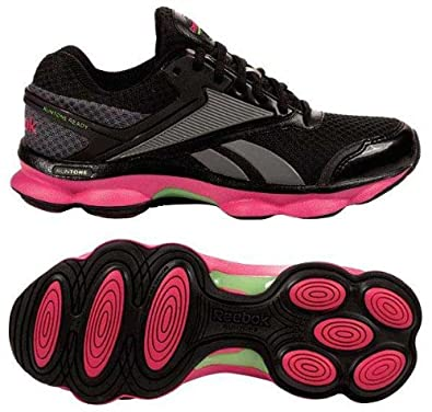 REEBOK Women's RunTone Action (Pink Ribbon/Black 11.0 M)