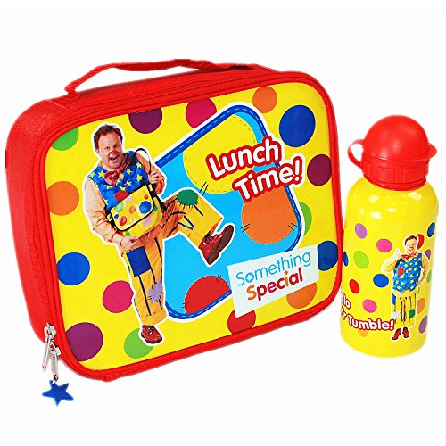 something-specialr-hello-mr-tumble-spotty-lunch-bag-and-metal-water-bottle-set-bbc-cbeebies-tv-show-